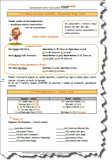 Vaje nemščine za odrasle